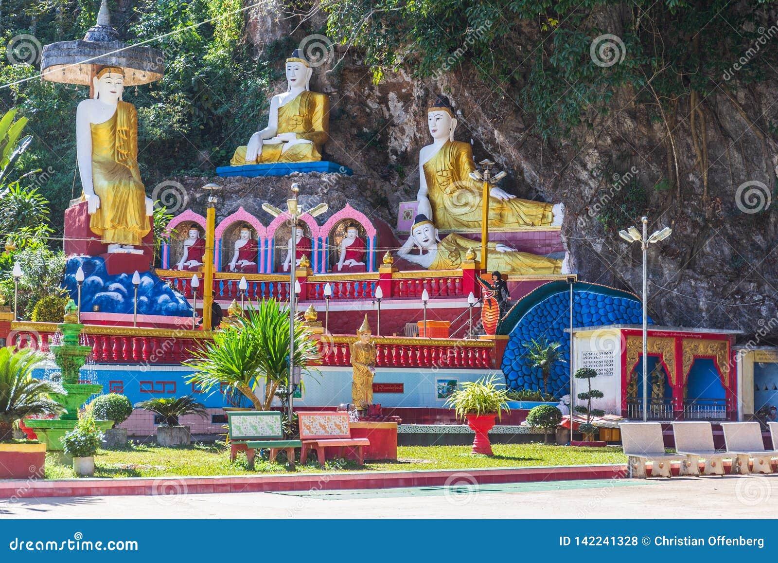 Пещера Thaung Ka Kaw, Hpa-an, Мьянма