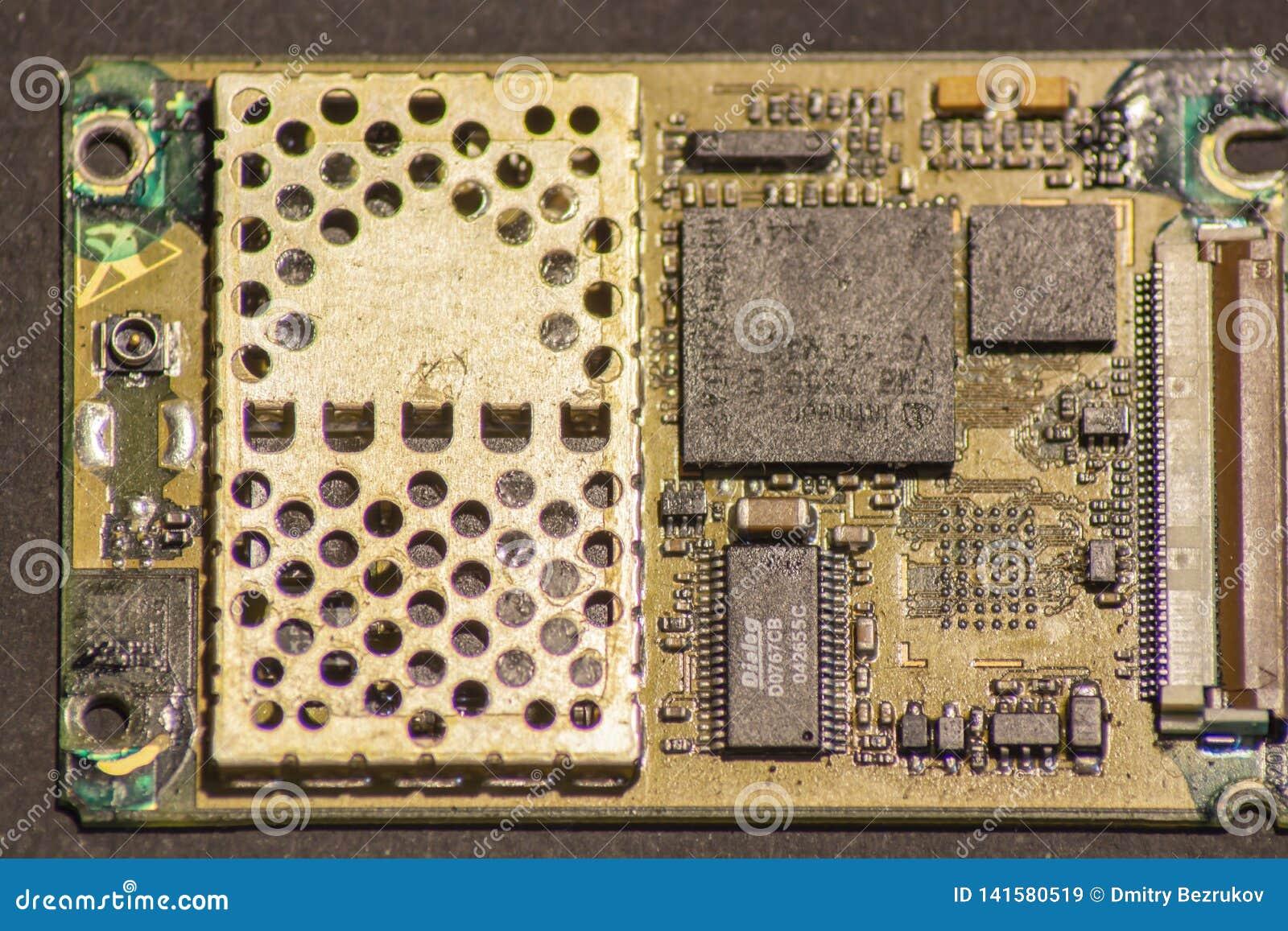 Плата с печатным монтажом электроники