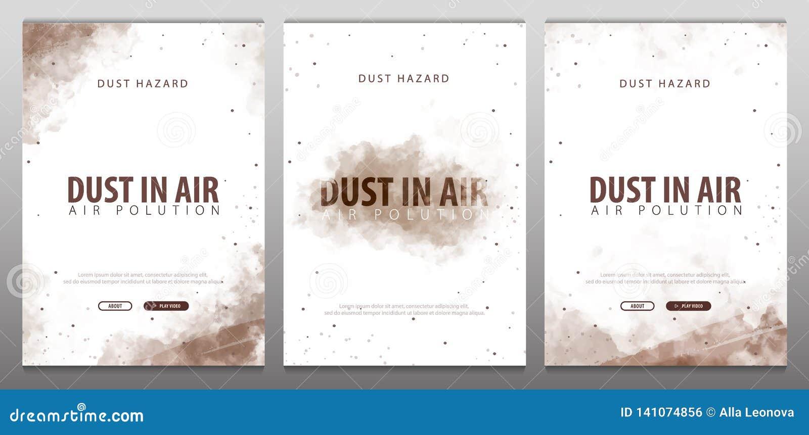 Пыль в воздухе Опасность пыли Загрязнянный воздух также вектор иллюстрации притяжки corel