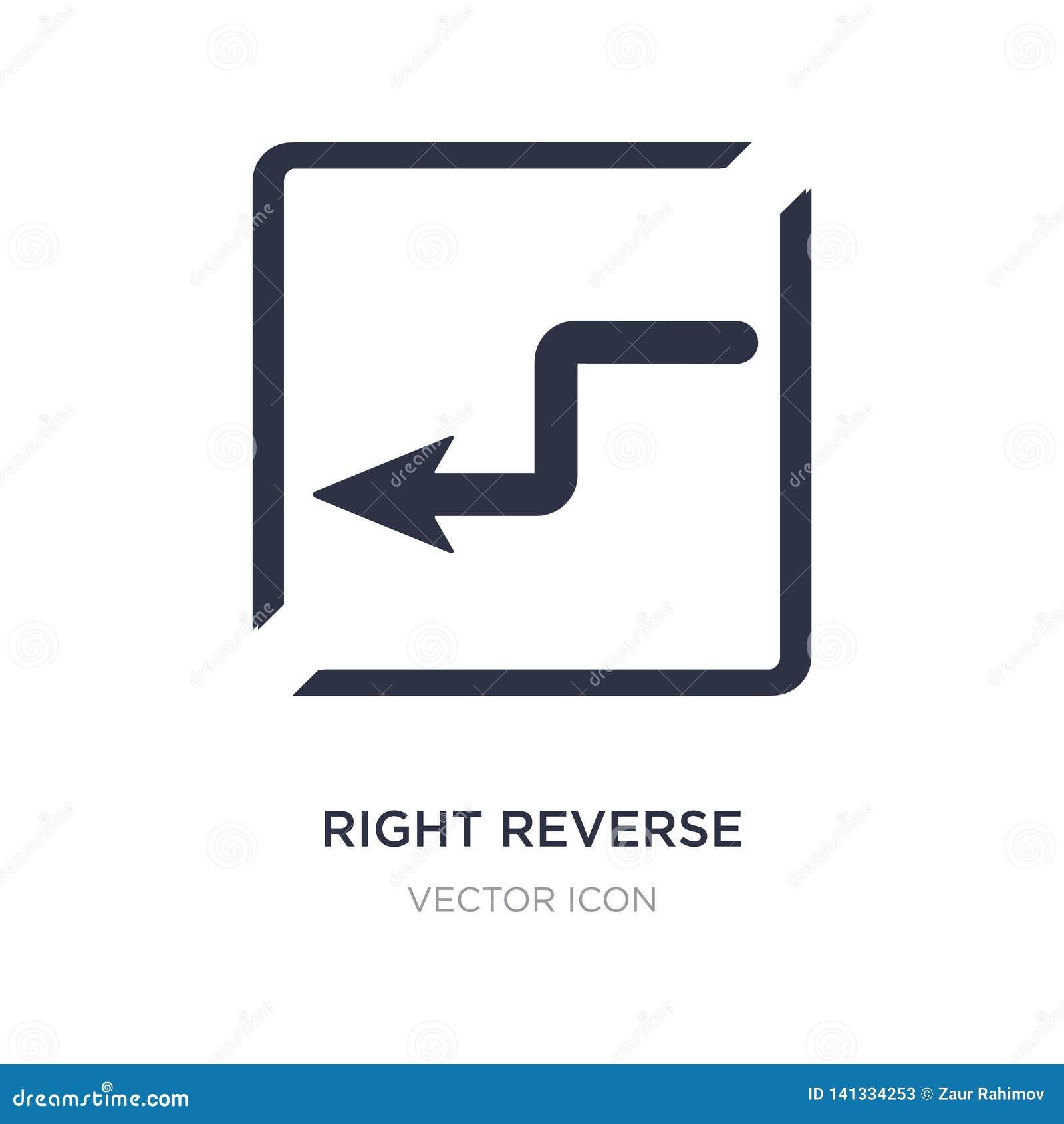 правый обратный значок кривой на белой предпосылке Простая иллюстрация элемента от концепции карт и флагов