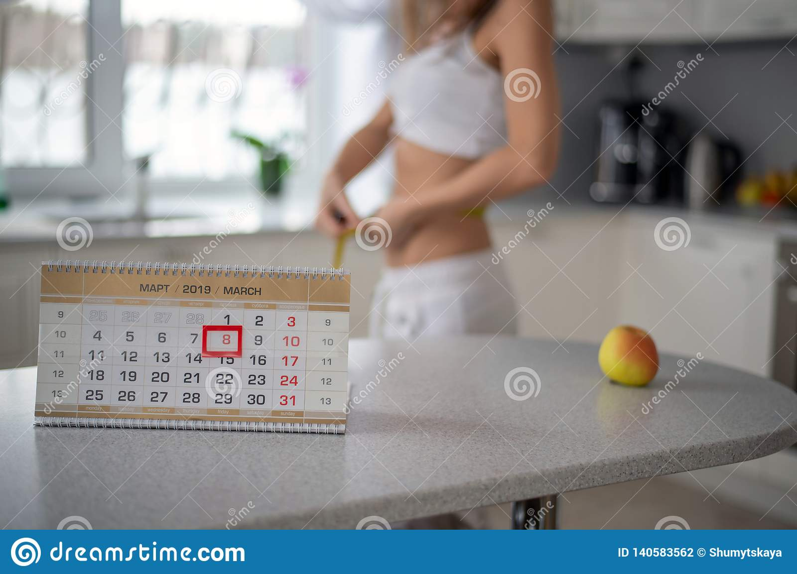 Потеряйте вес к весна, диаграмму девушки