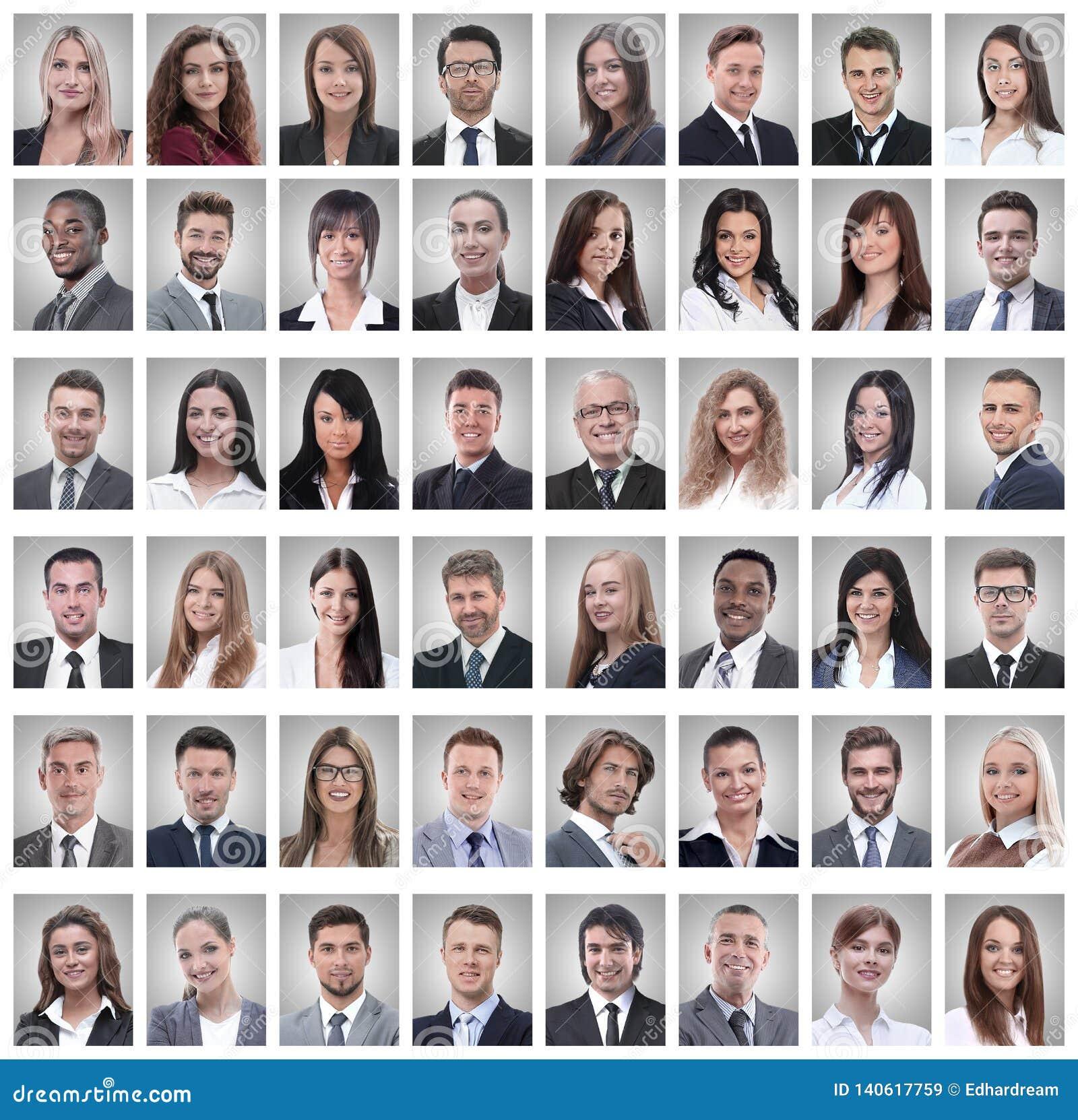 Портреты успешных молодых бизнесменов на белизне