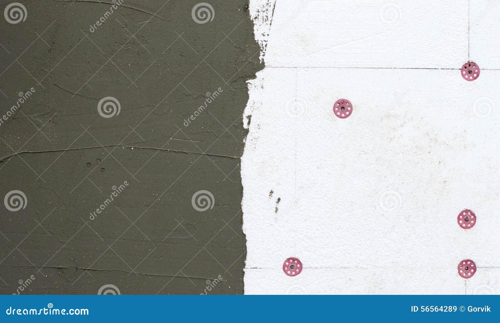 Download Оn ο τοίχος της εφαρμοσμένης πλαστικό επικονίασης αφρού Στοκ Εικόνα - εικόνα από μόνωση, μίγμα: 56564289