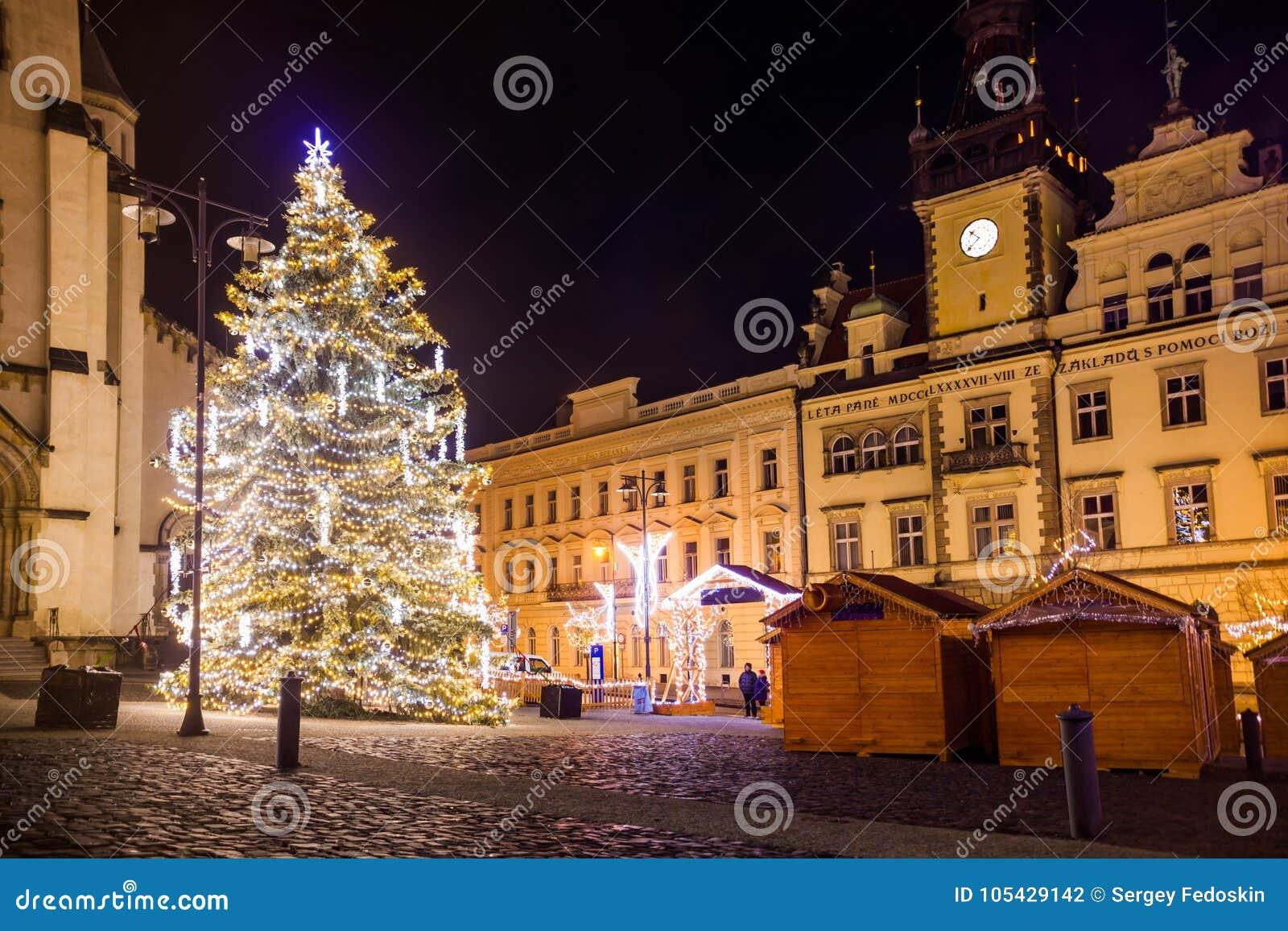 Ð ¡ hristmasmarkt in Kladno, Tsjechische Republiek