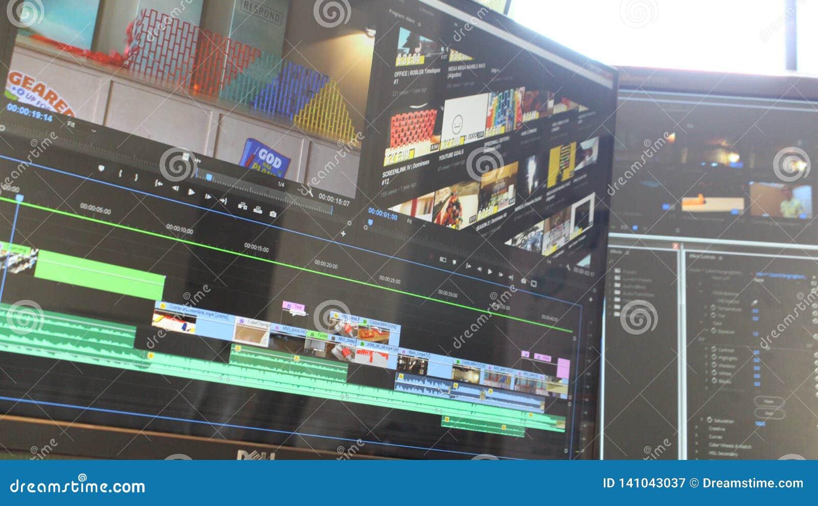 Двойная встреча редактирования монитора со светом из окна