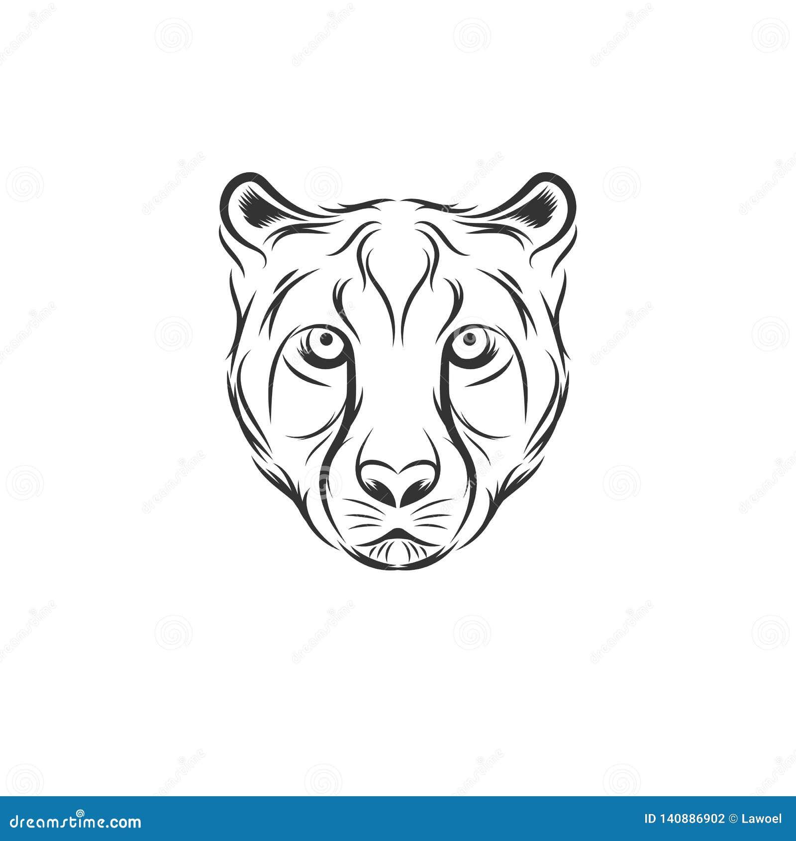 Дизайны иллюстрации гепарда главные