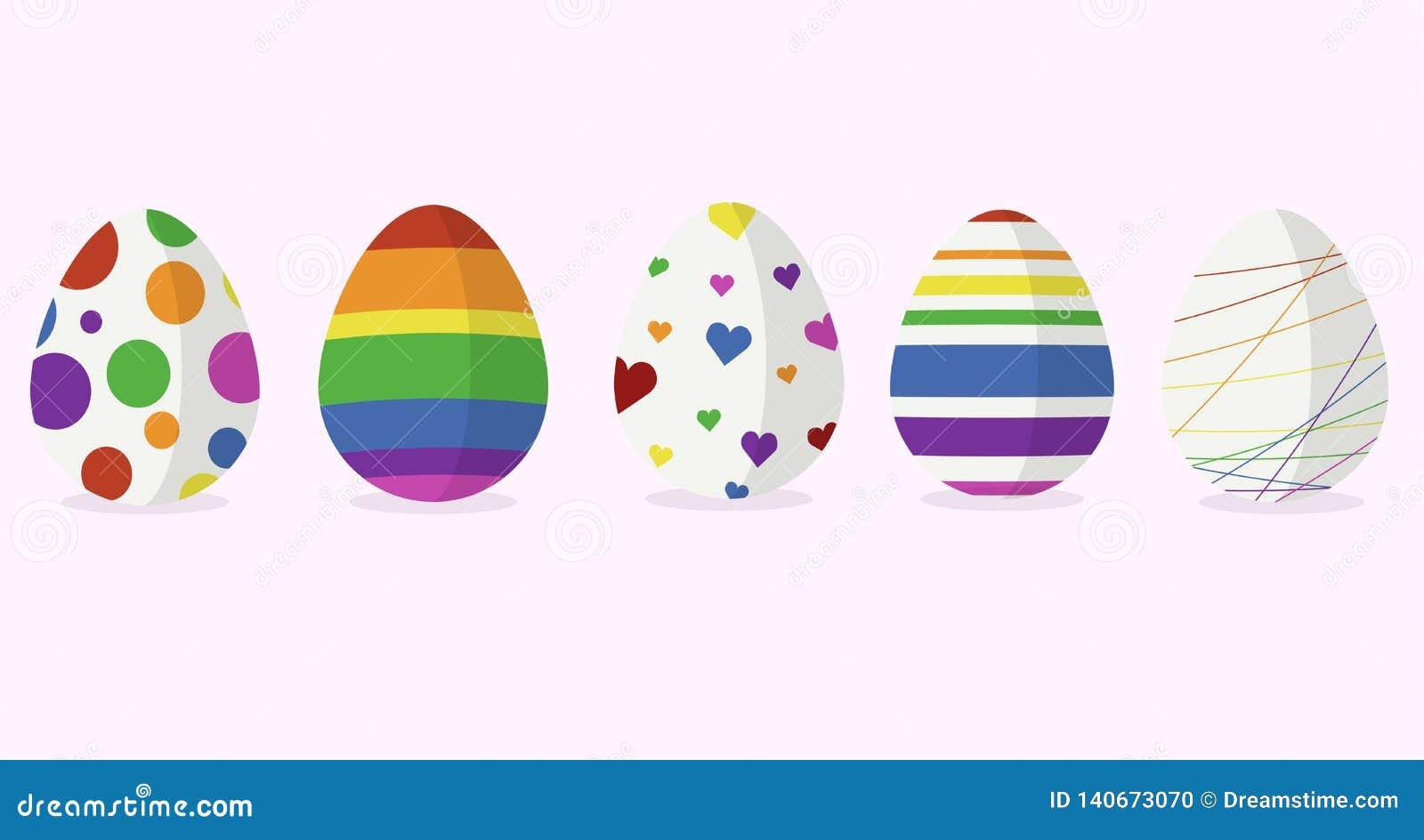 5 дизайнов пасхального яйца в цвете радуги
