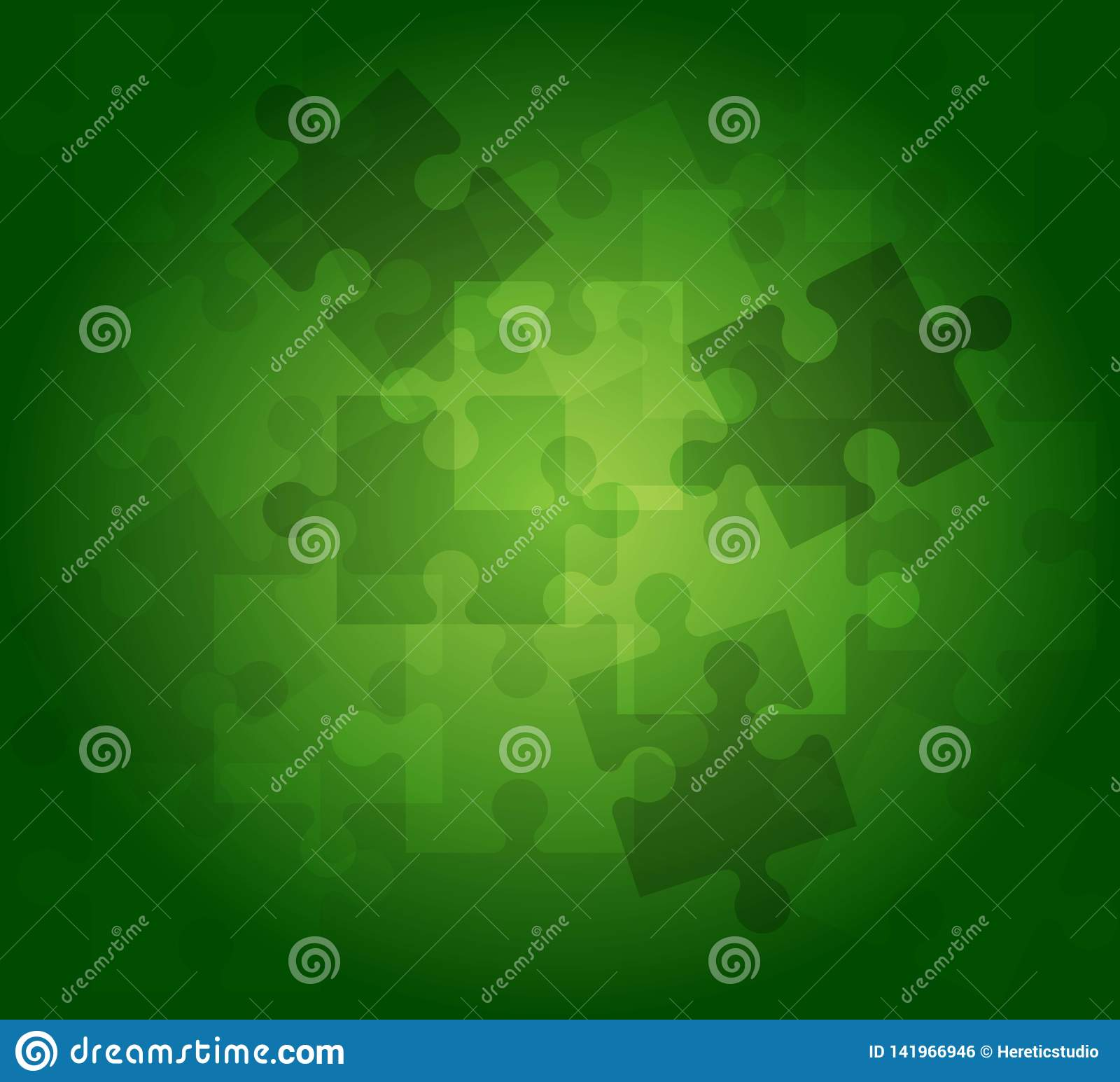 Abstract background puzzle pattern green color