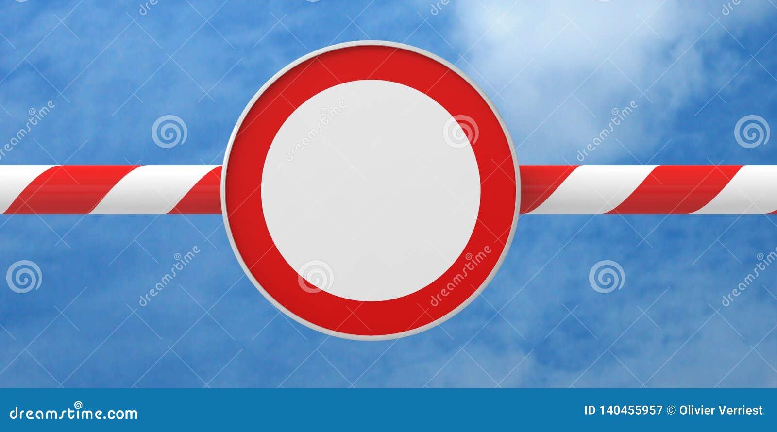 Дорожный знак барьера запрета запрещающий