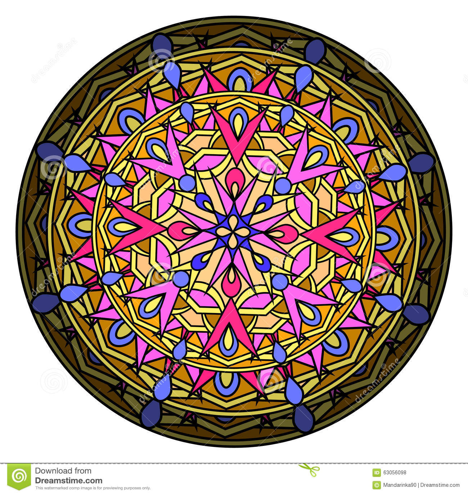 Ð ¡ olour projekta dekoracyjny element z kurenda wzorem