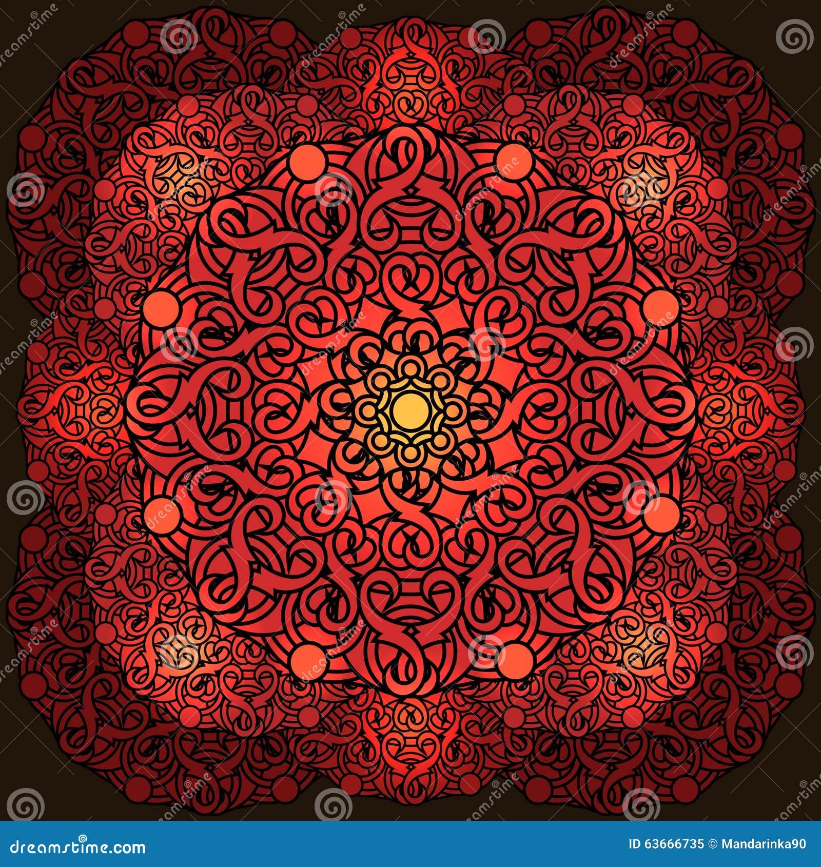 Ð ¡ olour projekta dekoracyjny element z kurenda wzorem mandala