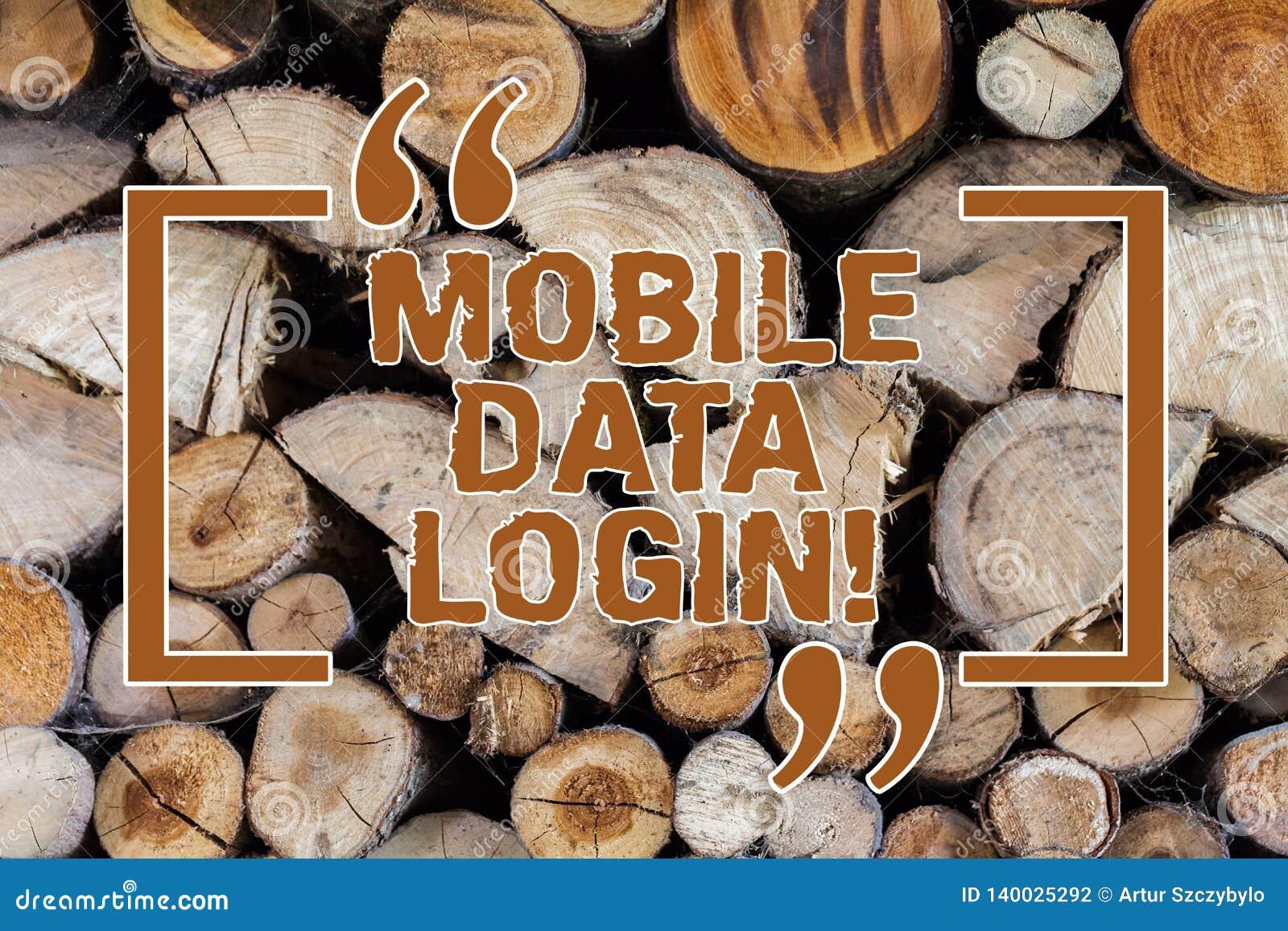 Слово писать тексту мобильное имя пользователя данных Концепция дела для позволяет потребителям смартфона получать доступ к интер