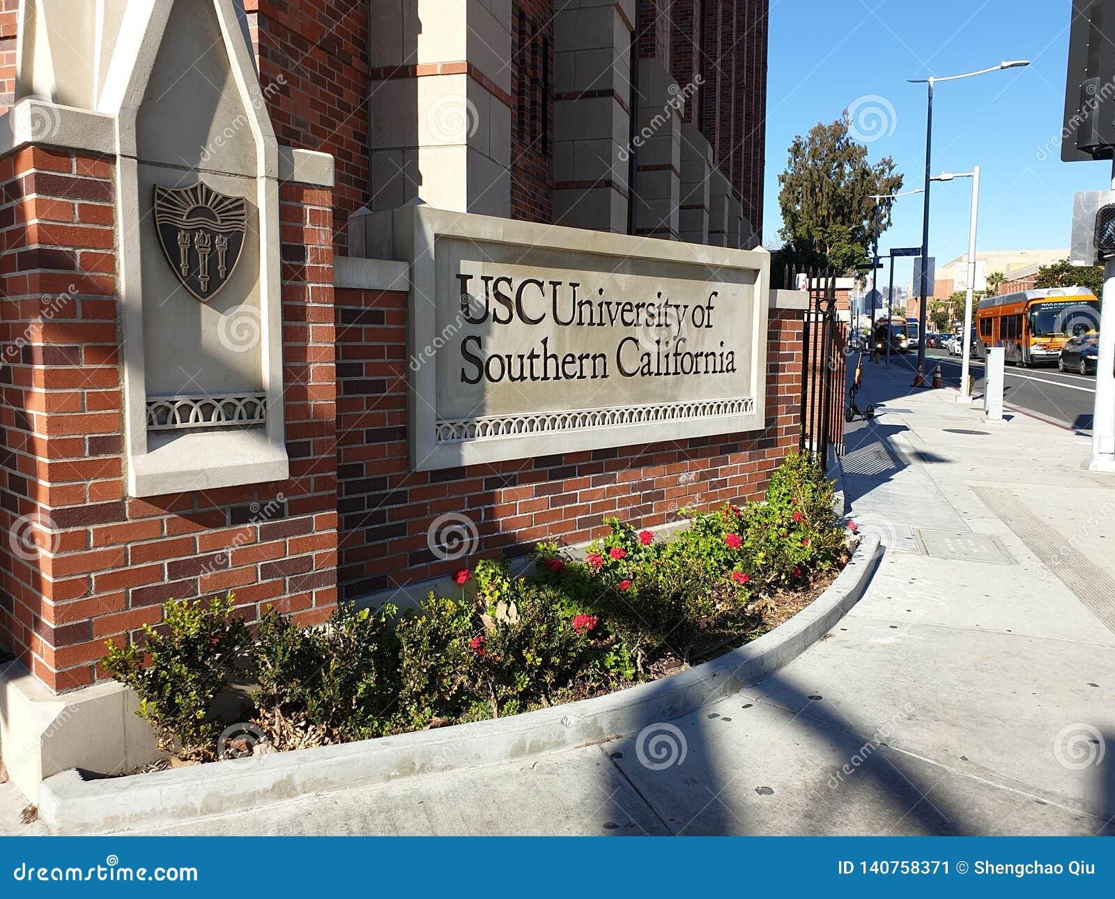 Снаружи Университет Южной Калифорниев USC