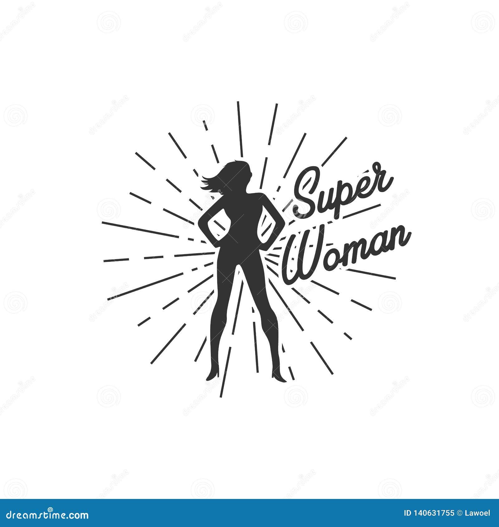 Супер иллюстрации женщины с sunburst