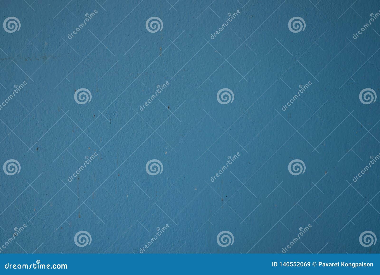 Старый свет поверхности стены - голубой