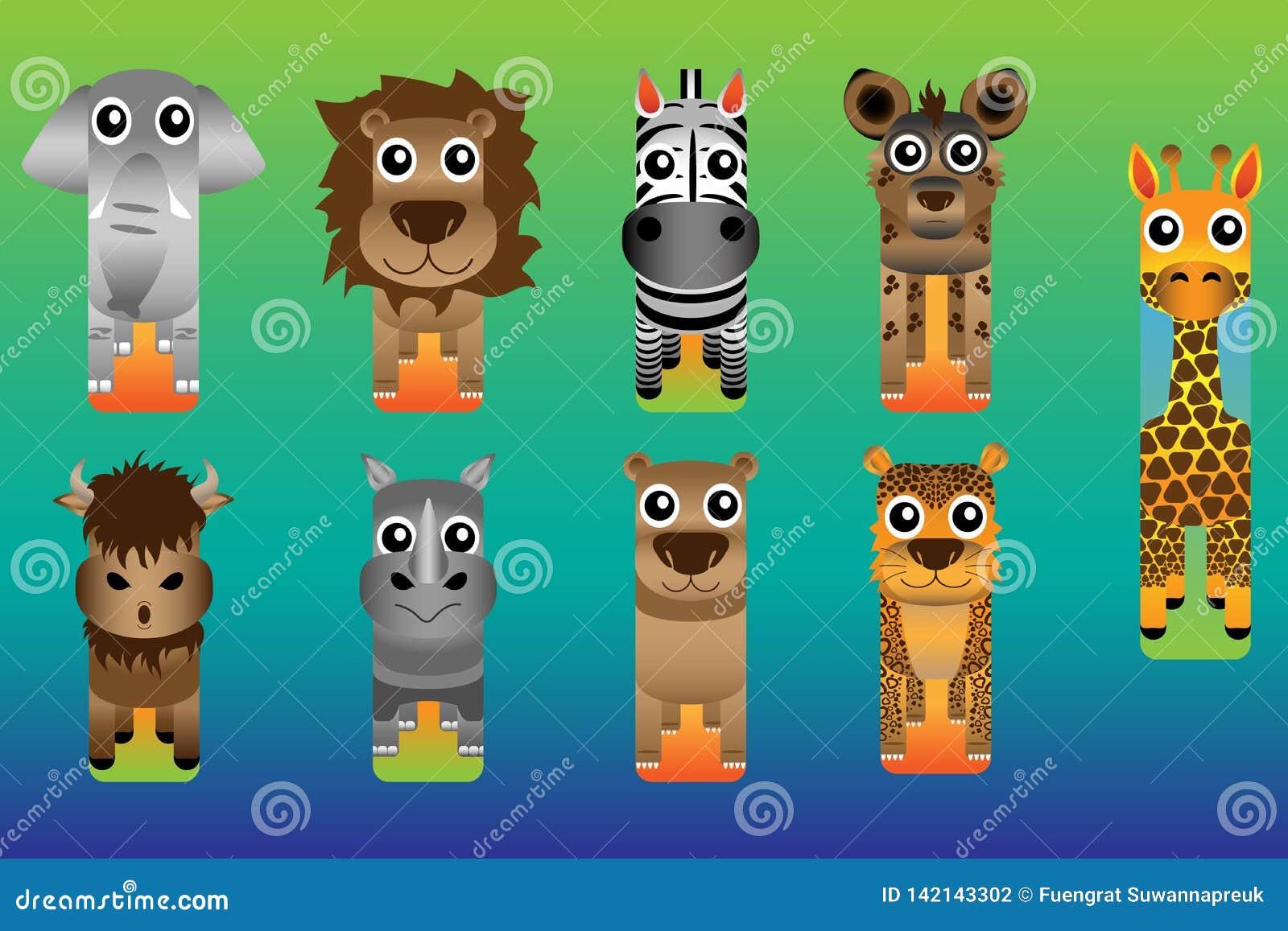 Стиль закладки сафари зоопарка животный