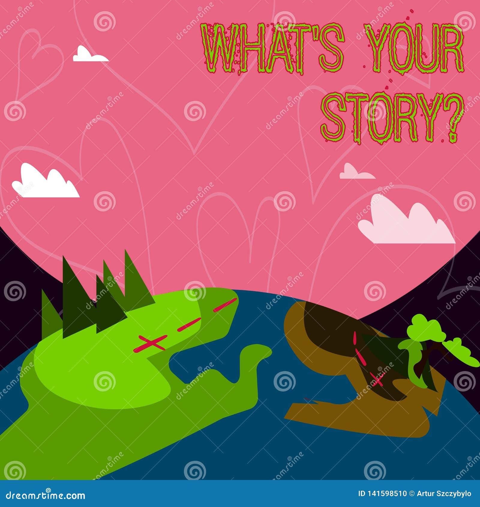 Схематическое сочинительство руки показывая какому s ваше Storyquestion Showcasing фото дела соединяется связывает соединение вза