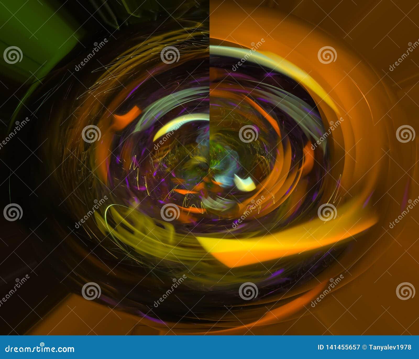 элегантность абстрактной цифровой фрактали творческая, динамика