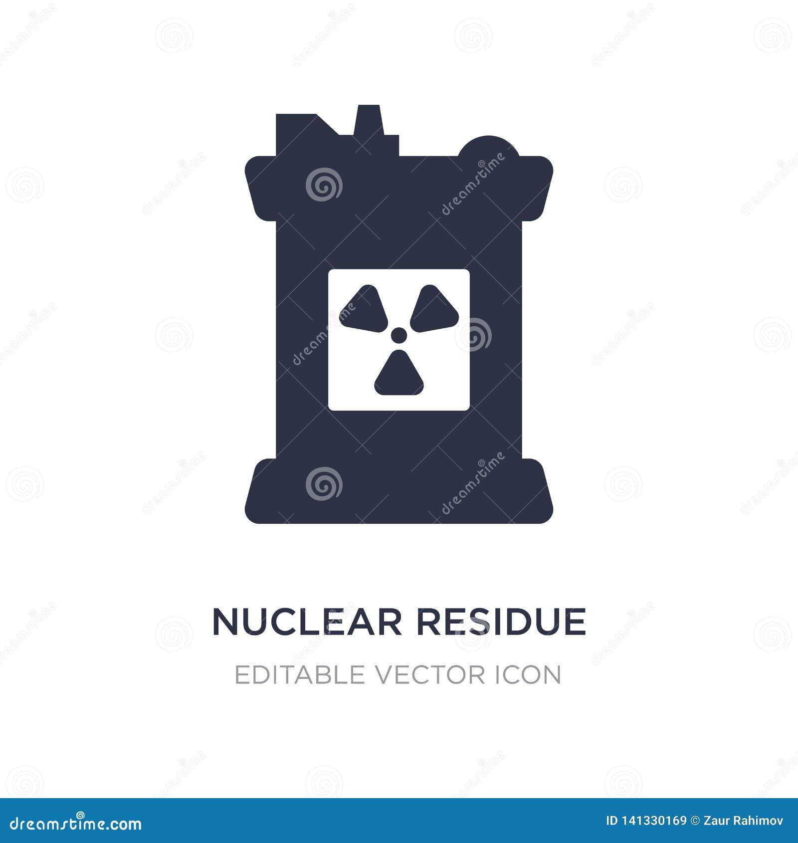 ядерный значок выпарки на белой предпосылке Простая иллюстрация элемента от концепции индустрии