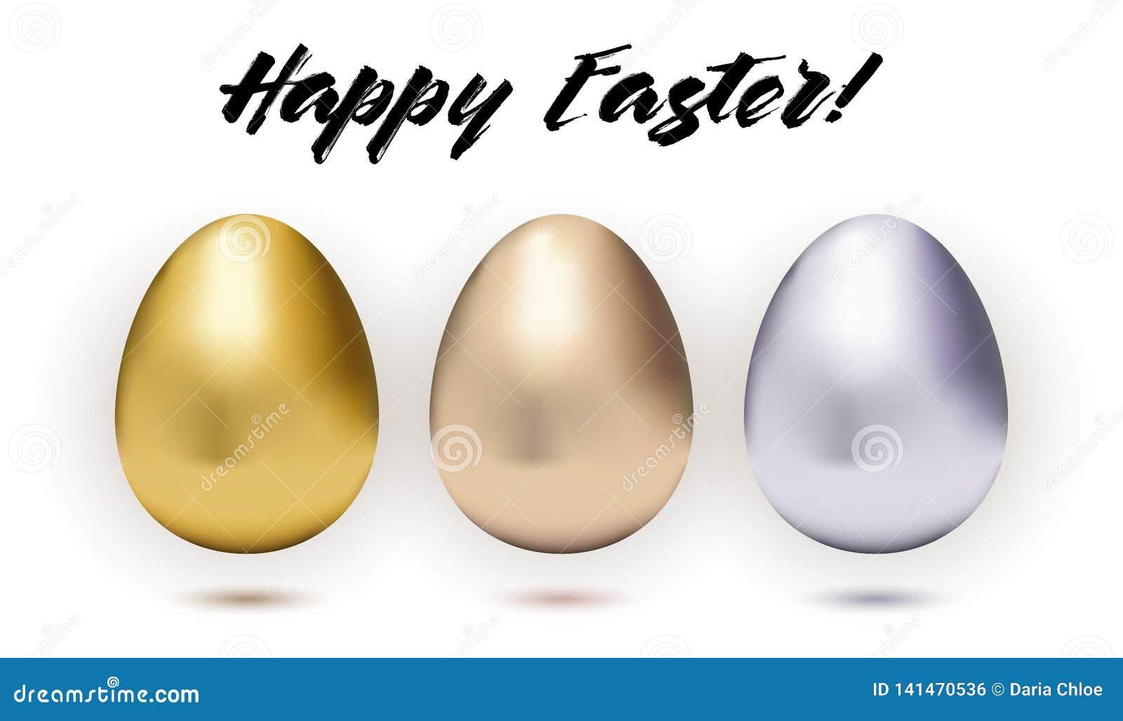 Установите 3 металлических пасхальных яя