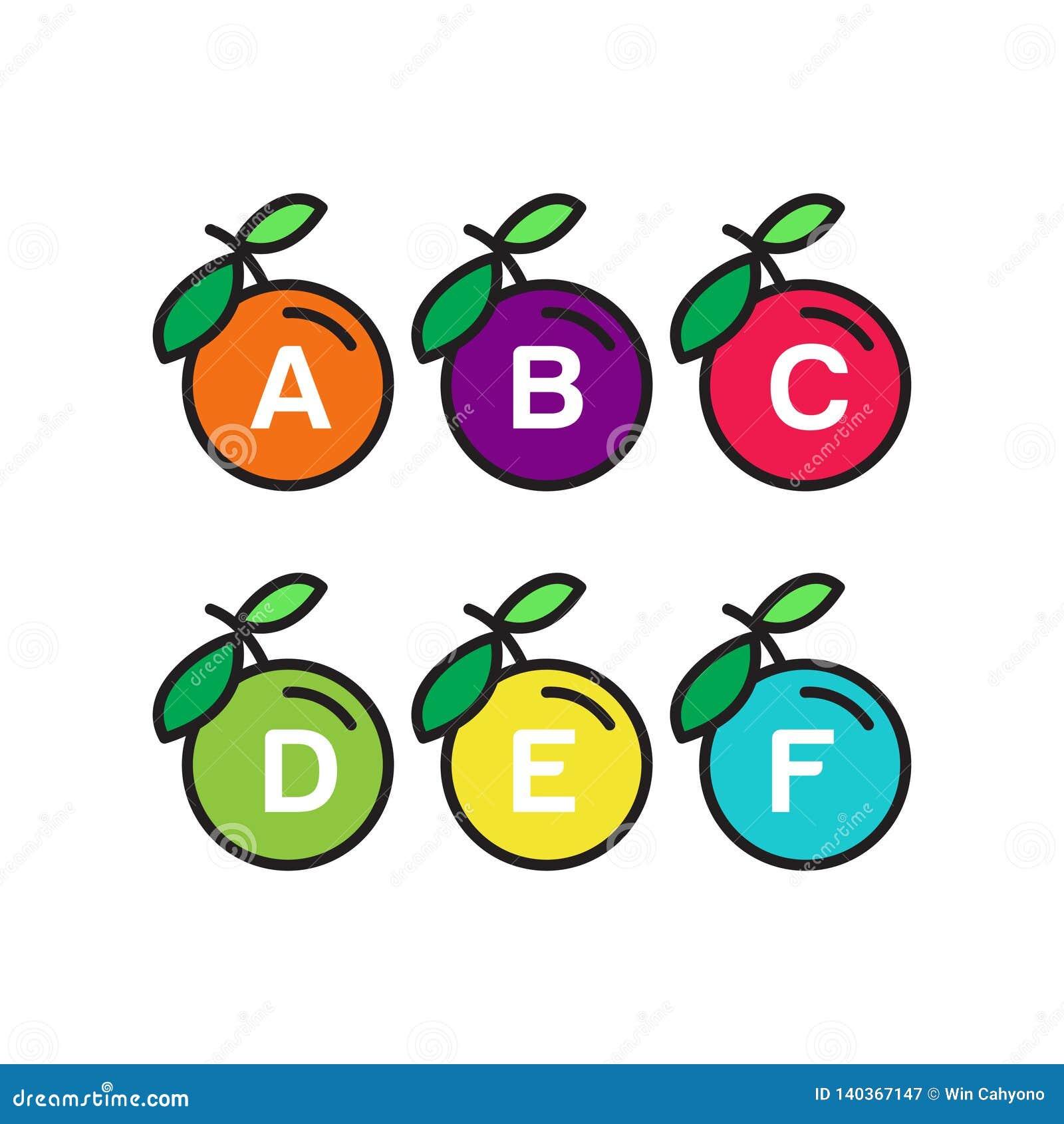 Шаблон алфавита Яблока
