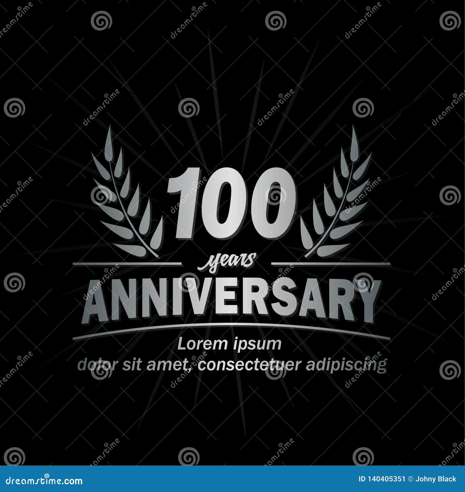 шаблон дизайна годовщины th 100 100th вектор и иллюстрация лет