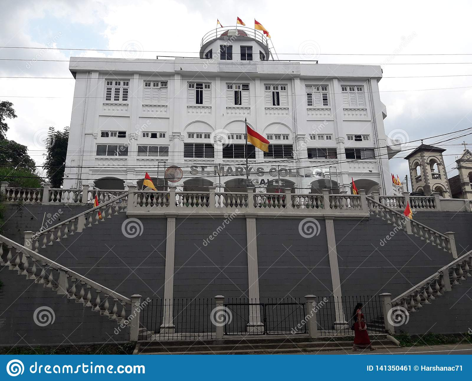 Школьное здание водя в Шри-Ланка