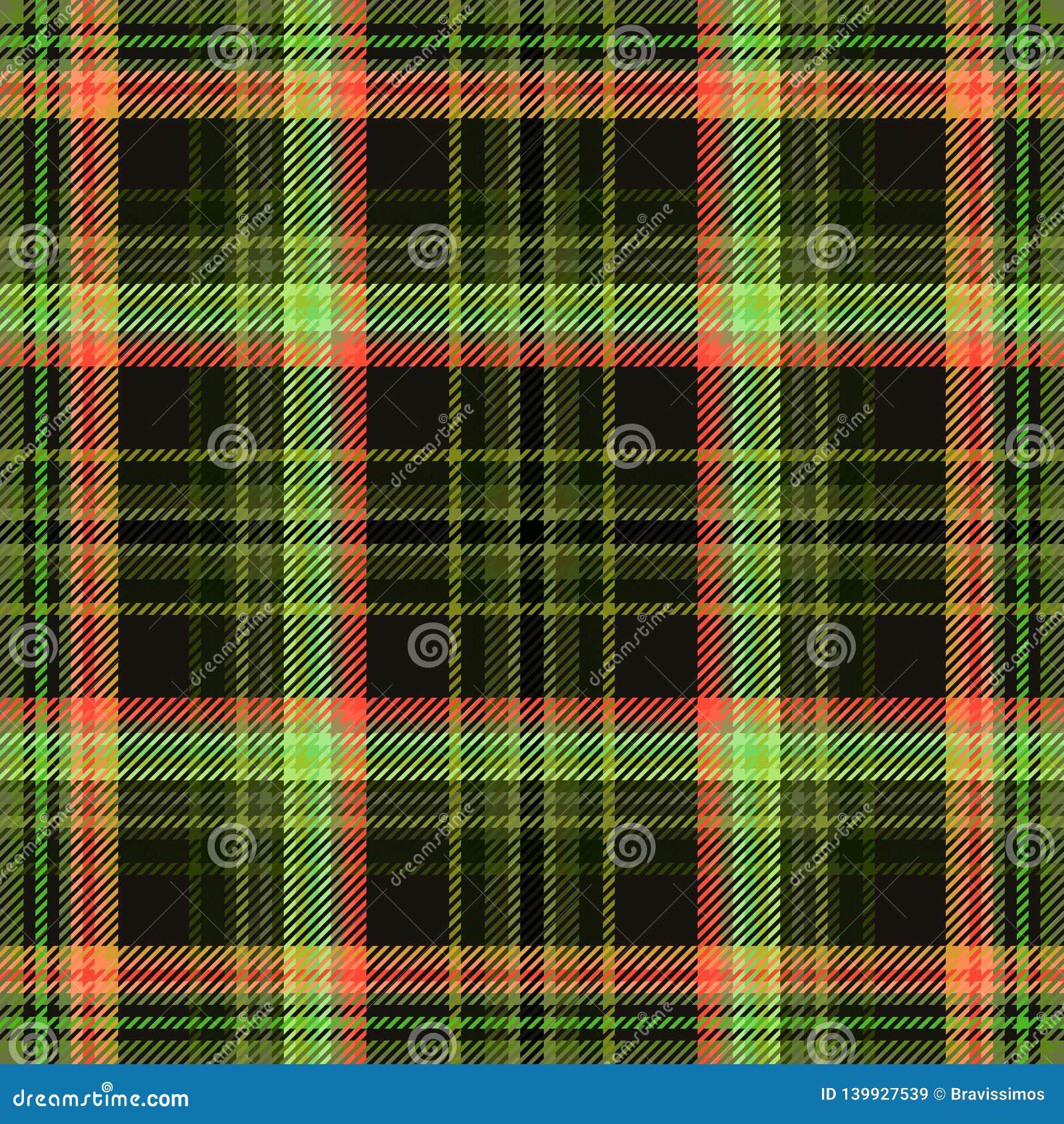 Шотландка ткани тартана, предпосылка безшовная квадрат плитки