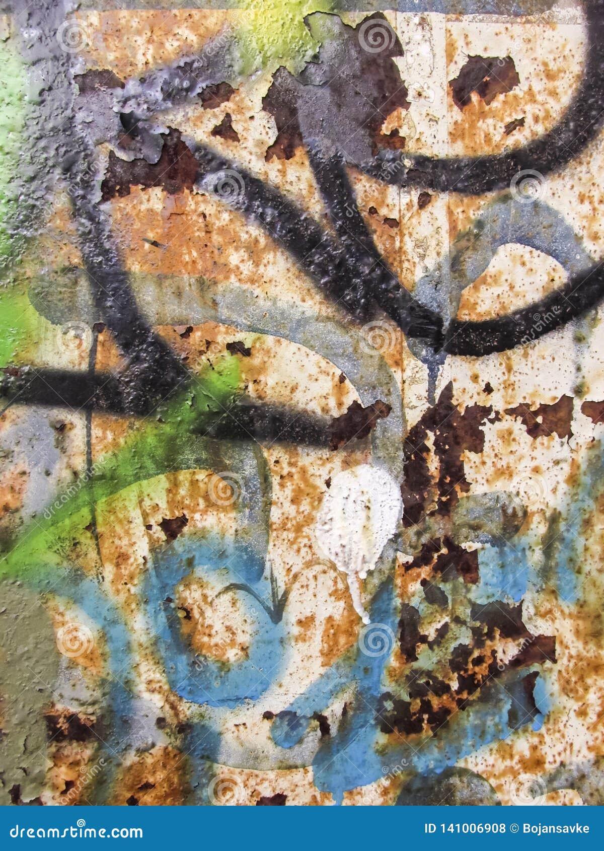 Тяжело рифленая зеленая текстура металла
