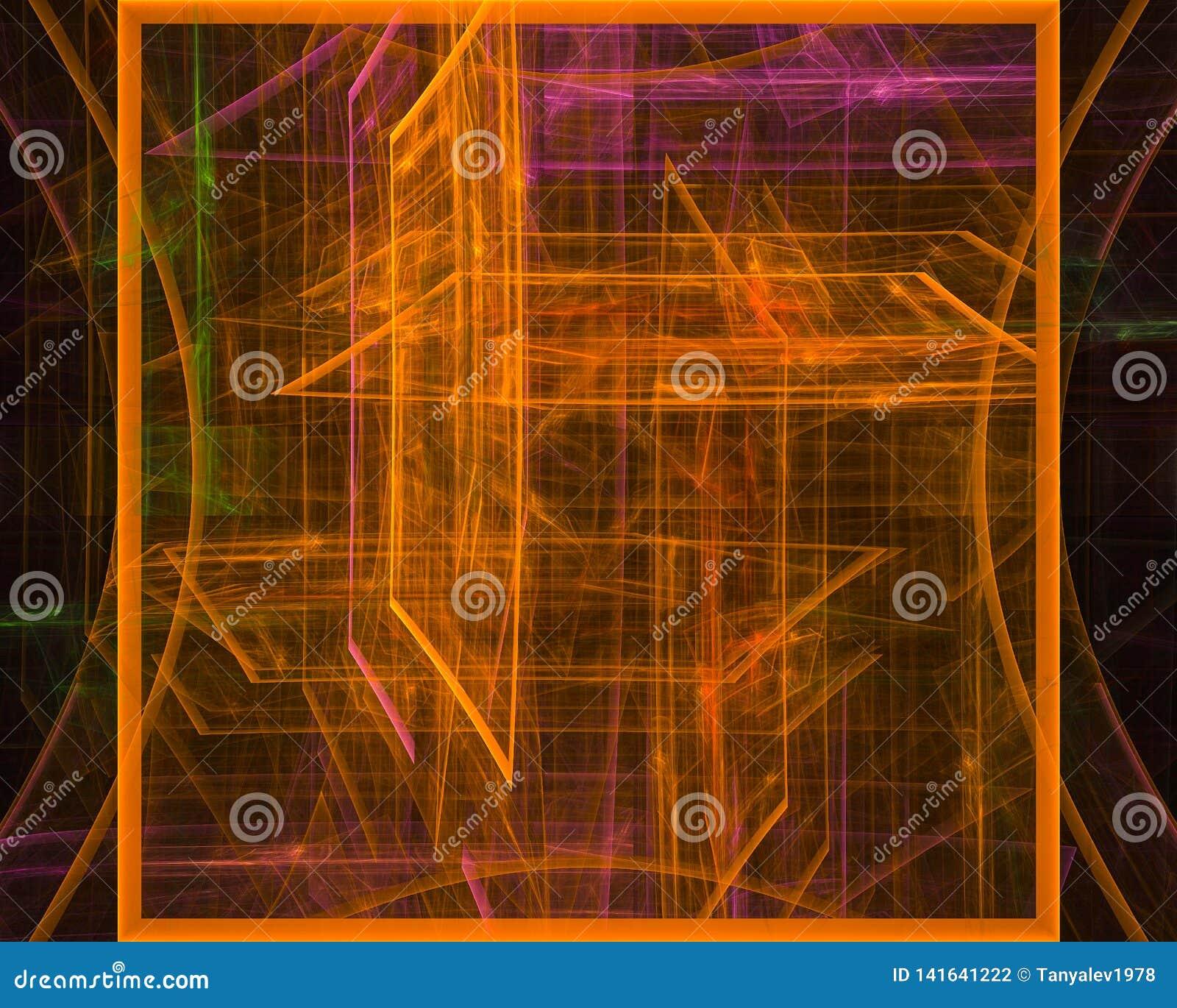 Фантазия фрактали скручиваемости абстрактной цифровой карты орнамента волшебная творческая, художественный, элегантность, динамик
