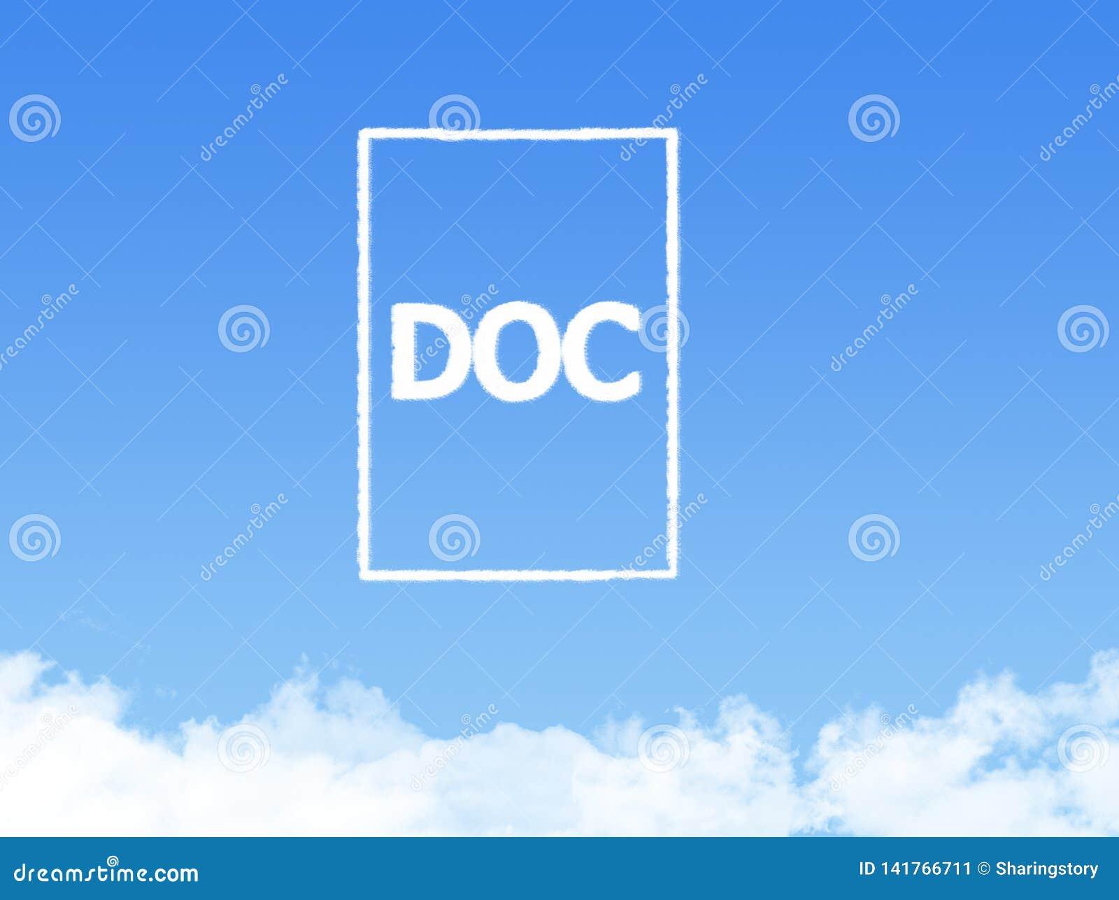 Форма облака печатного документа блокнота