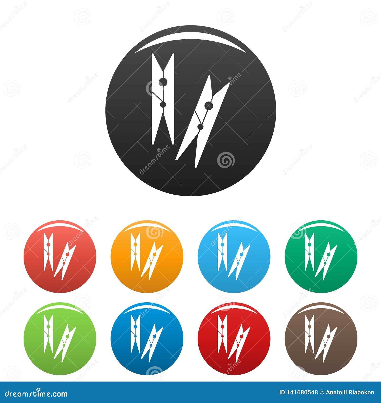 Цвет значков колышков одежд установленный