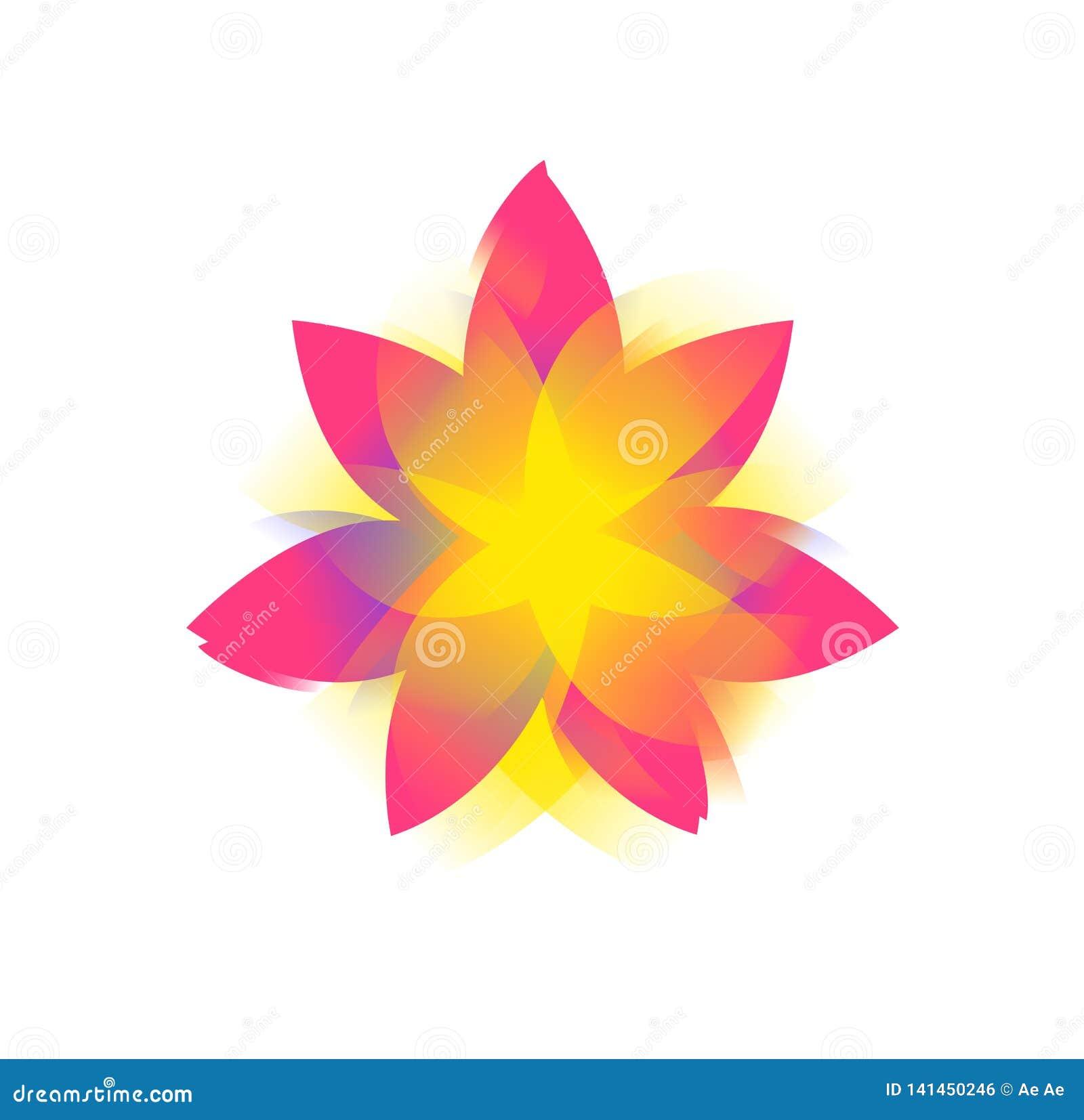 Цветок лотоса, логотип, знак Значок цветка вектора плоский Изображение Minimalistic на изолированной предпосылке Лотос для студии
