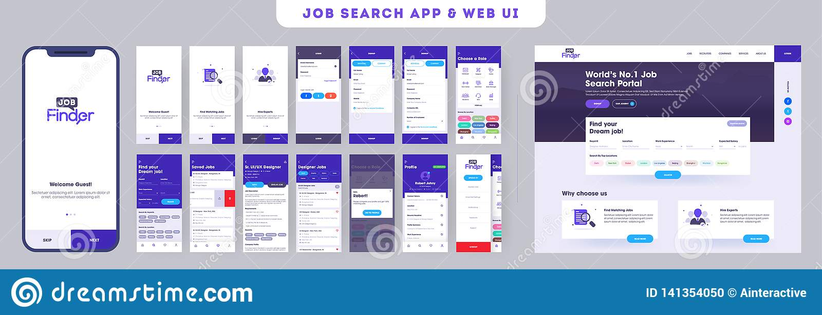 Работа ища набор ui приложения отзывчивого мобильного приложения или вебсайт с различным планом применения
