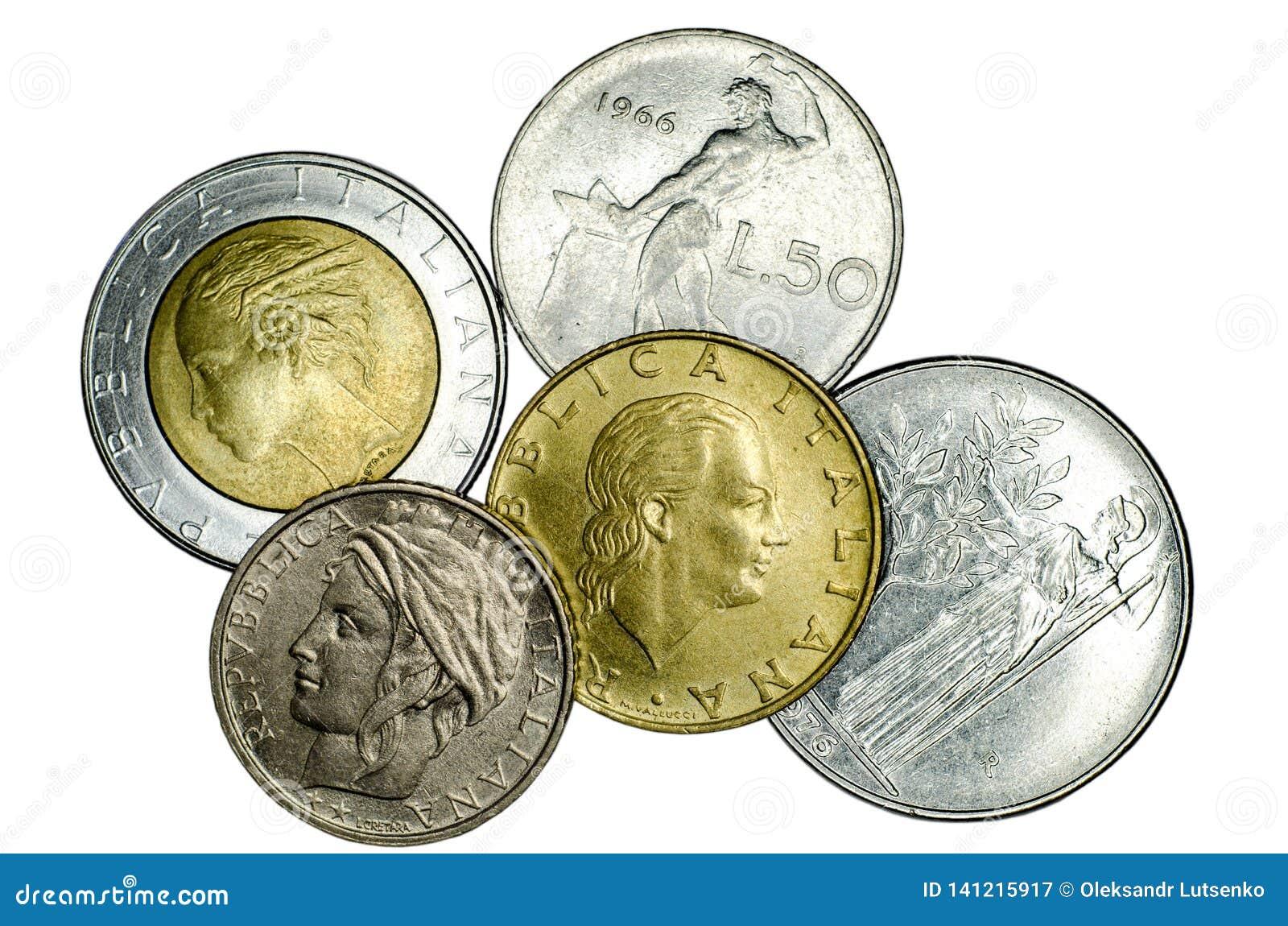 Различные итальянские монетки