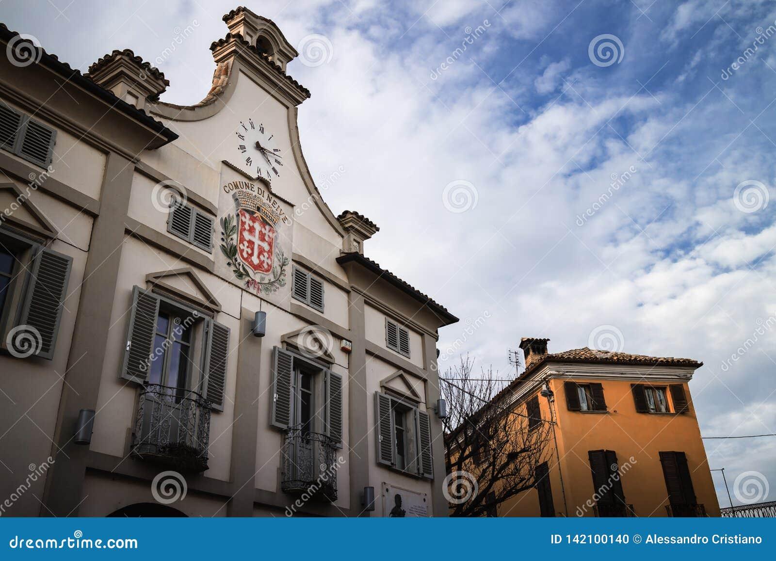 Ратуша Neive, Италии, одной из главных деревень района вина langhe