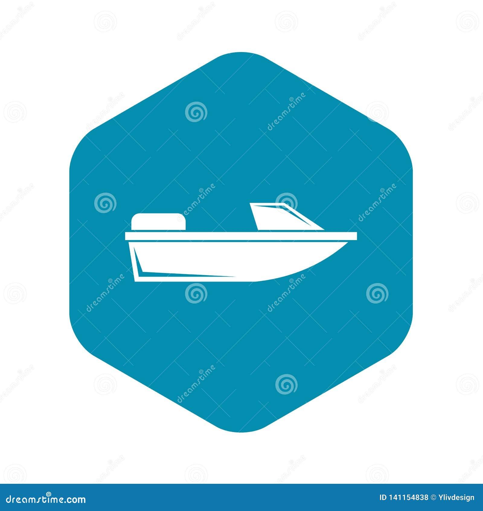 Резвит значок powerboat, простой стиль