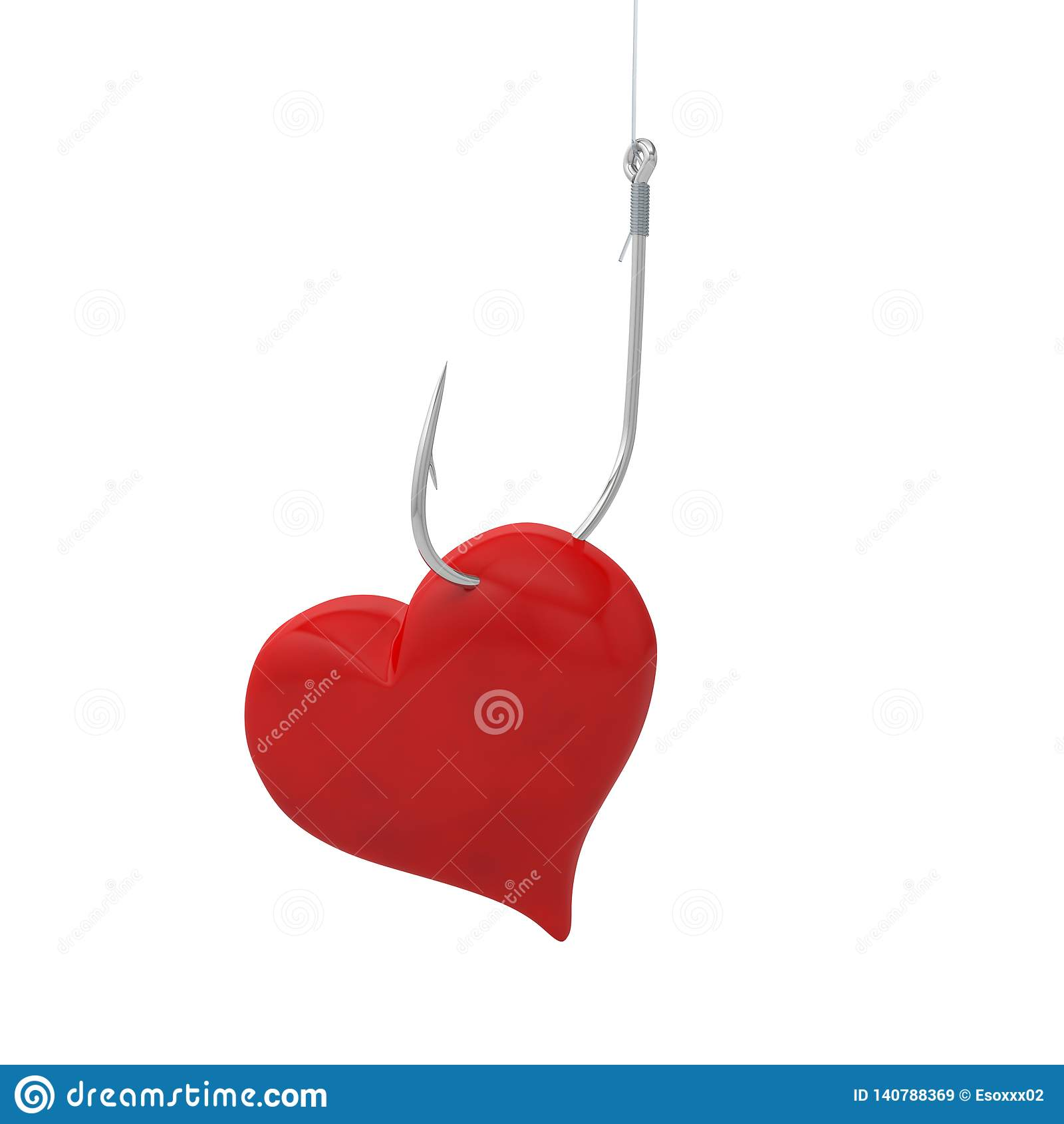 Рыболовный крючок удить крюка сердца