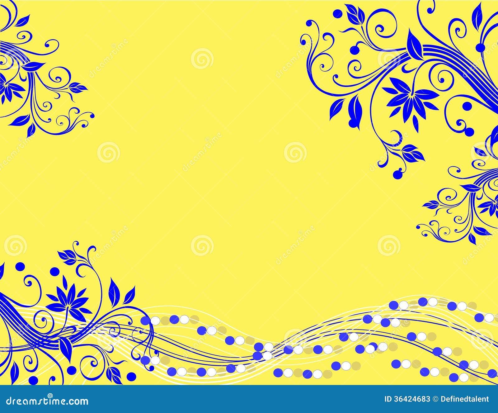 Żółty Błękitny Abstrakcjonistyczny tło