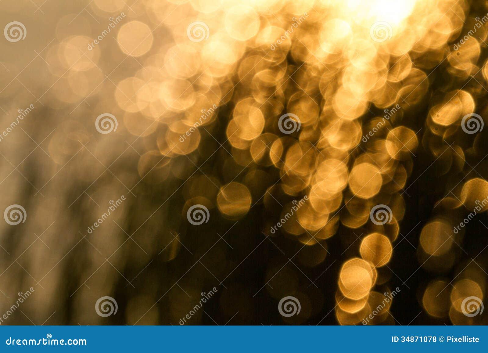 Żółty bokeh