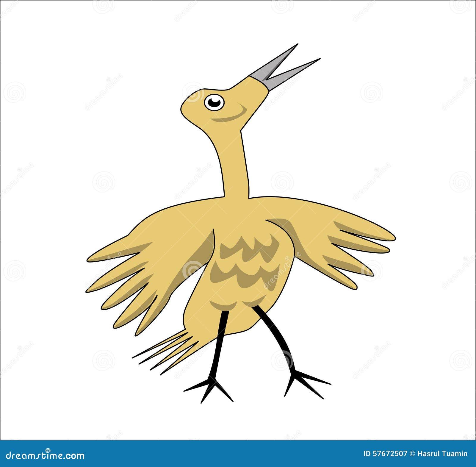 Żółty dziecko ptak