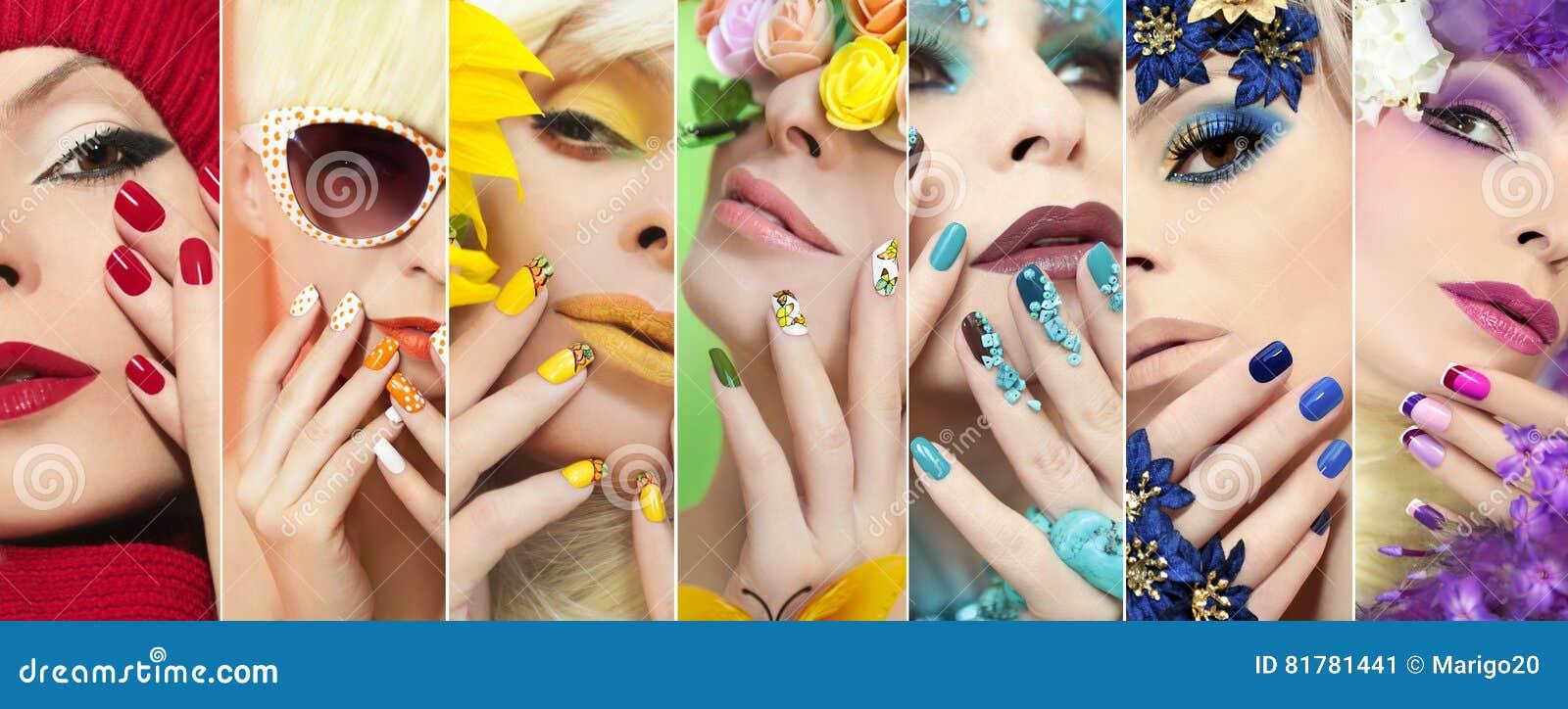Żółty makeup i Francuski manicure