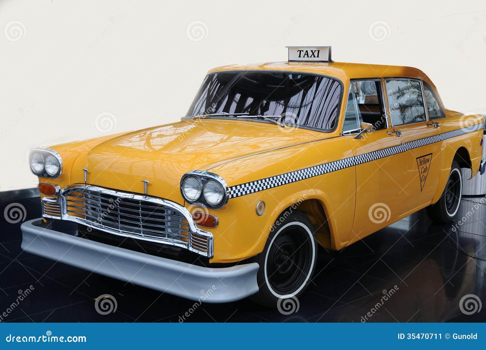 Żółty taksówki taxi