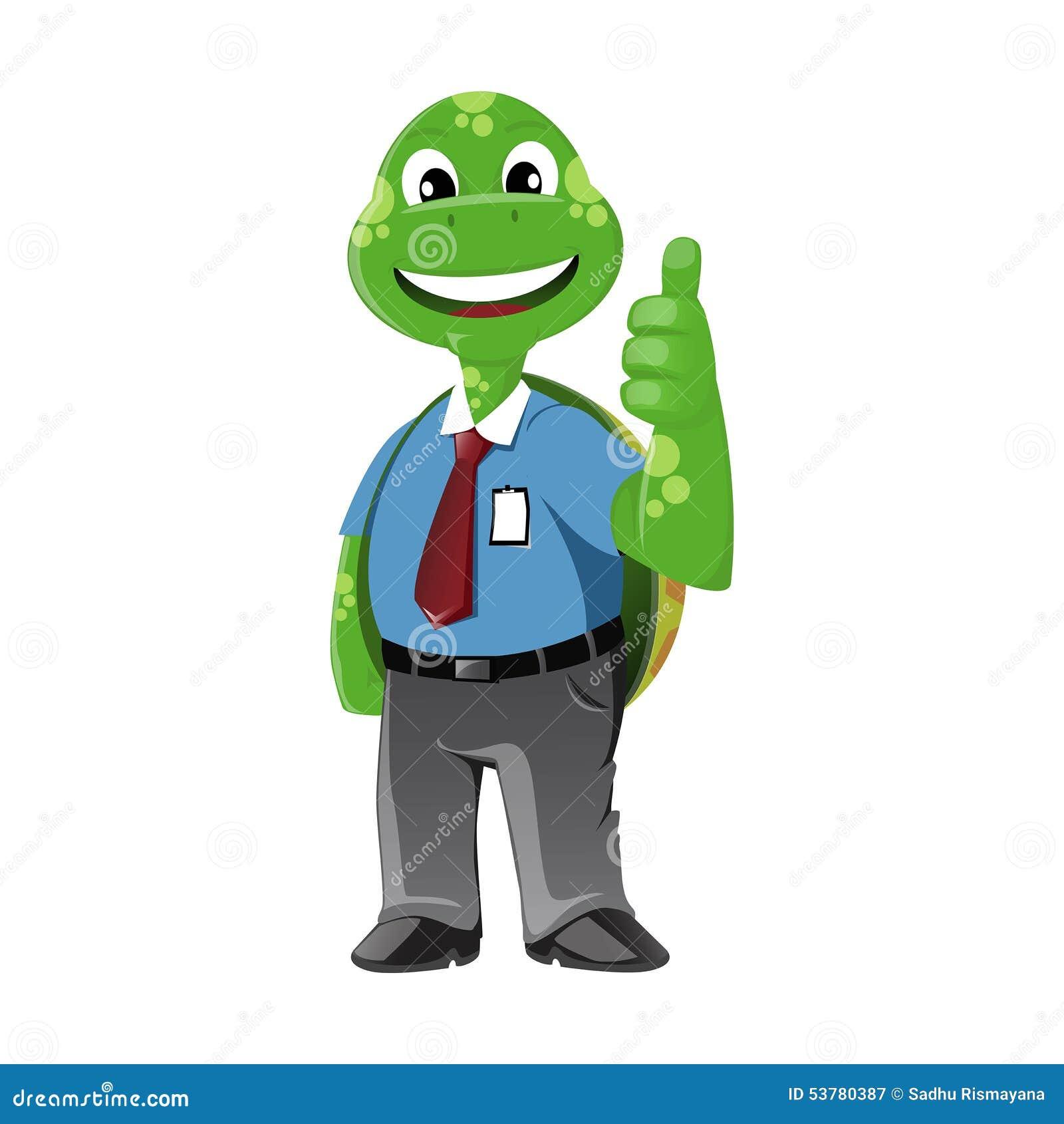 Żółwia Biznesowy mężczyzna
