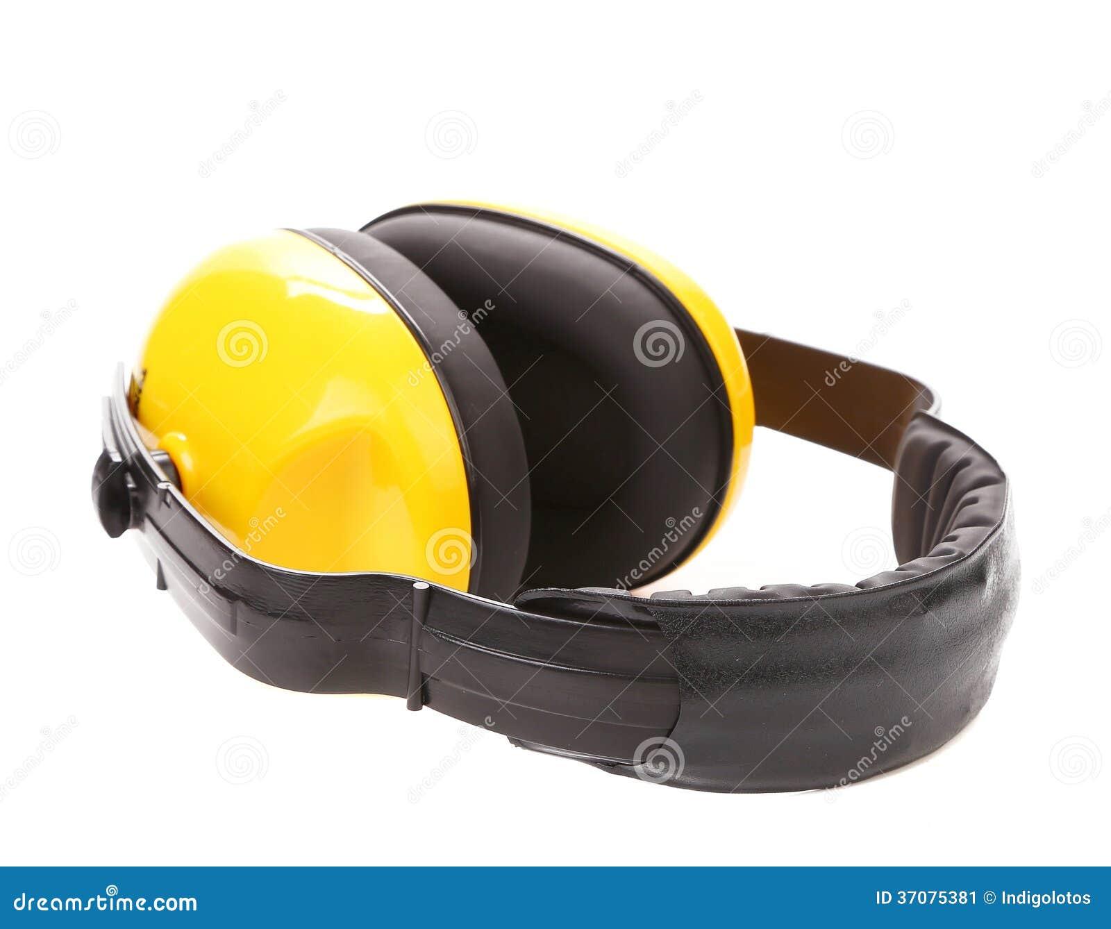 Download Żółte Ochronne Uszate Mufki. Obraz Stock - Obraz złożonej z kopiasty, redukcja: 37075381
