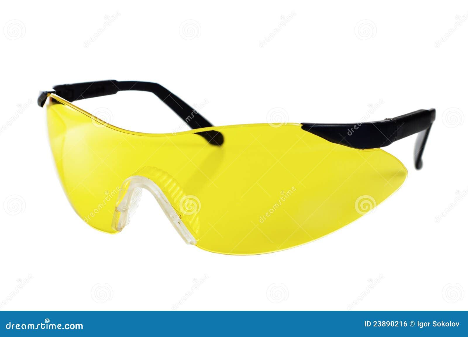 7a58ec9bdc2ca Óculos De Proteção De Trabalho Amarelos Foto de Stock - Imagem de ...