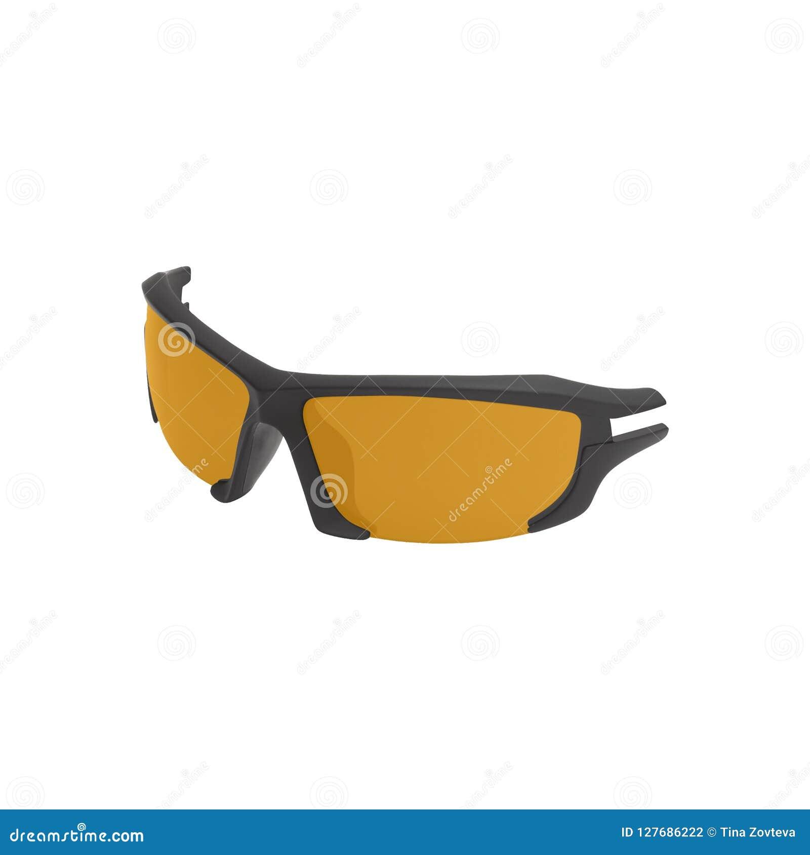 Óculos de sol do esporte da bicicleta no branco