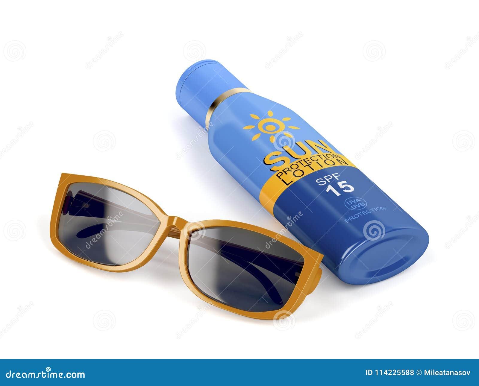 5c9b6871ae74d Óculos De Sol E Proteção Solar Ilustração Stock - Ilustração de ...