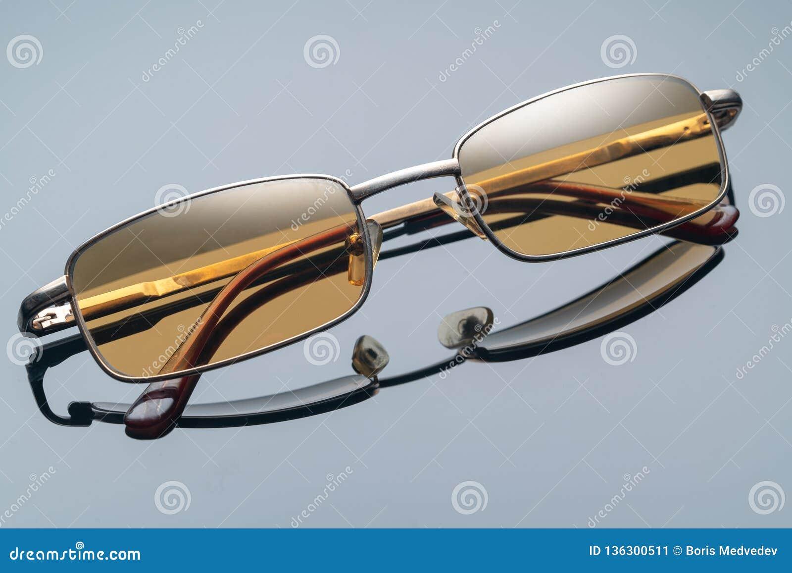 Óculos de sol, vidro amarelo, para carros