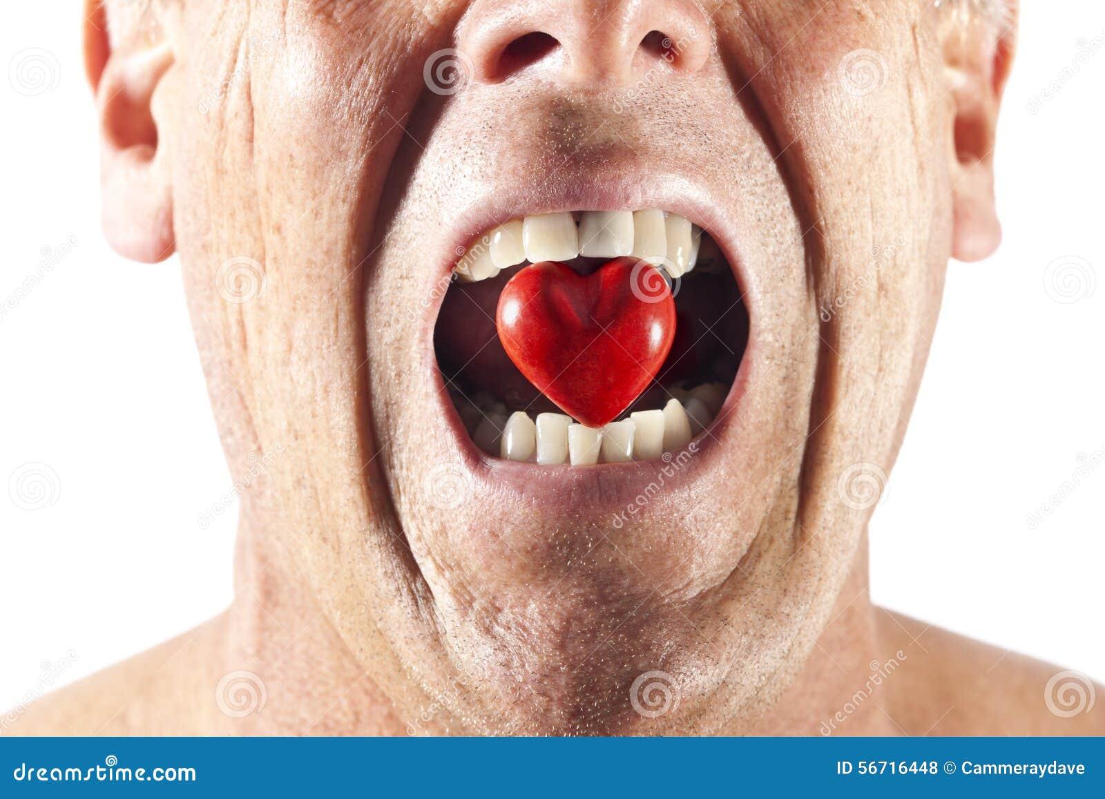Ódio do amor da boca do coração